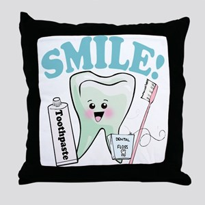 Dentist Dental Hygienist Teeth Throw Pillow