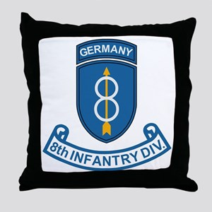 Army-8th-Infantry-Div-6-Bonnie Throw Pillow