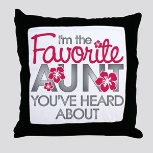 Favorite Aunt Throw Pillow