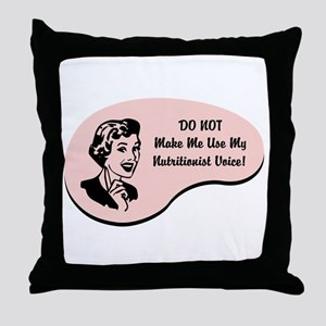 Nutritionist Voice Throw Pillow