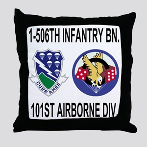 2-Army-506th-Infantry-1-506th-101st-A Throw Pillow