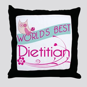 World's Best Dietitian Throw Pillow