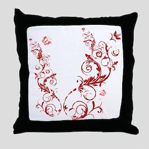 bethechange_red_dark Throw Pillow