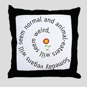 Normal vegan Throw Pillow
