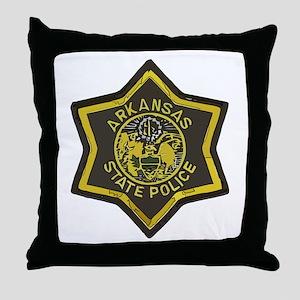Arkansas SP patch Throw Pillow