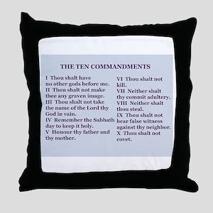 Ten Commandments Throw Pillow