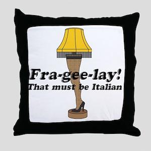 fragelee-Leg_Lamp Throw Pillow