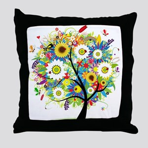 summer tree Throw Pillow