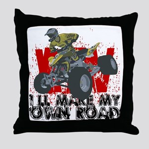 ATV My Own Road Throw Pillow