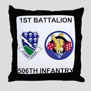 Army-506th-Infantry-BN1-Currahee-Para Throw Pillow