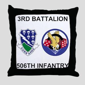 Army-506th-Infantry-BN3-Currahee-Para Throw Pillow