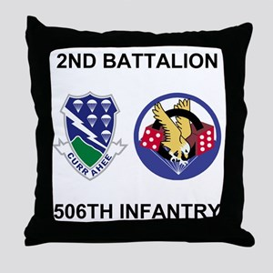 Army-506th-Infantry-BN2-Currahee-Para Throw Pillow