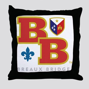 Cadien Breaux Bridge Monoram Throw Pillow