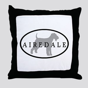 Airedale Terrier Oval #3 Throw Pillow