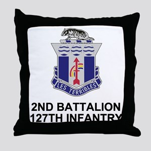 ARNG-127th-Infantry-Shirt-3 Throw Pillow