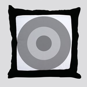 Greece - Ghost Grey Throw Pillow