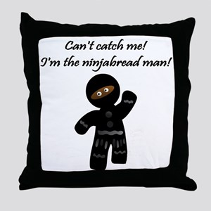 The-Ninjabread-Man Throw Pillow