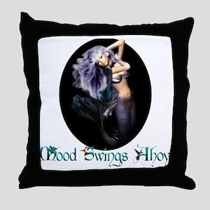 MaternityMermaid Throw Pillow