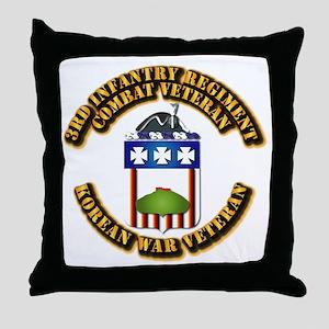 Army - 3rd Infantry Regiment w Korea Throw Pillow