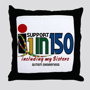 I Support 1 In 150 & My Sisters Throw Pillow