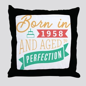1958 Aged to Perfection Throw Pillow