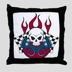 Hotrod - Race - Mechanic Throw Pillow