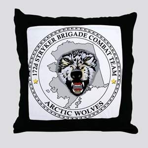 172nd Stryker Brigade <BR>Arctic Wolves Pillow
