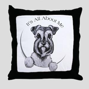 Classic Schnauzer IAAM Throw Pillow
