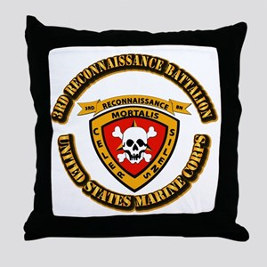 SSI - 3rd Reconnaissance Bn With Text USMC Throw P