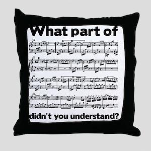 Partiture Throw Pillow