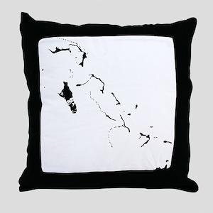 Bahamas Silhouette Throw Pillow