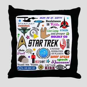Trekkie Memories Throw Pillow