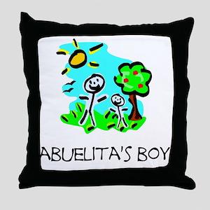 abuelitas boy stick figure Throw Pillow