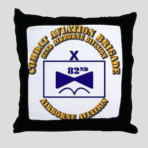 Combat Aviation Bde - 82nd AD Throw Pillow