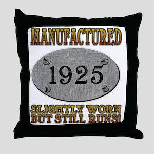 1925 Throw Pillow