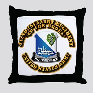 Army - DUI - 442nd Infantry Regt Throw Pillow