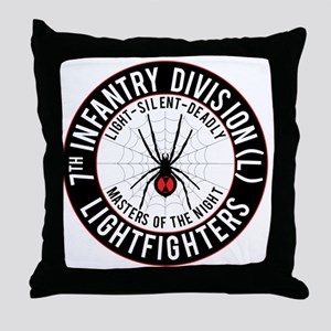 2012 Black Widow Design Throw Pillow
