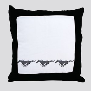 Mens mustang Throw Pillow