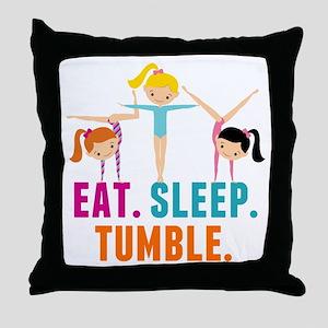 Eat Sleep Tumble Throw Pillow