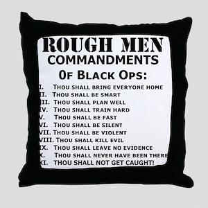 Art_Black Ops Commandments Throw Pillow