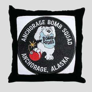 Anchorage Bomb Squad Throw Pillow
