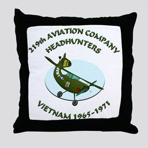 219th Aviation Company Collec Throw Pillow