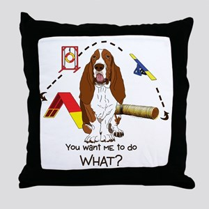 Bassett Agility Throw Pillow