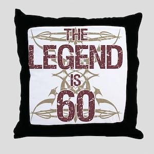 Men's Funny 60th Birthday Throw Pillow