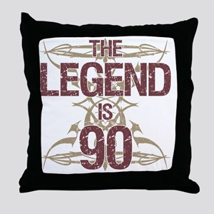 Men's Funny 90th Birthday Throw Pillow