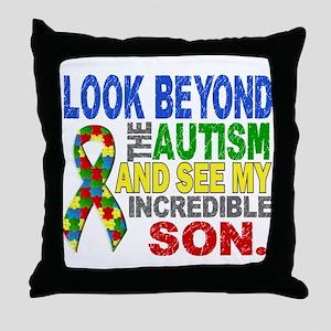 Look Beyond 2 Autism Son Throw Pillow