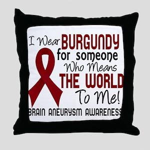 Brain Aneurysm MeansWorldToMe2 Throw Pillow