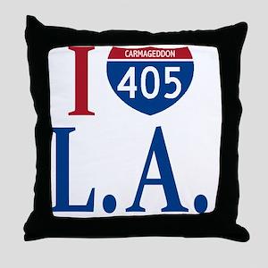 I love LA Throw Pillow