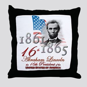 16th President - Throw Pillow