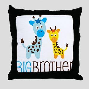 Giraffe Big Brother Throw Pillow